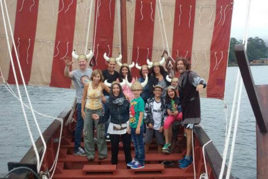 Drakar Vikingo Foto Grupo