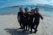 Snorkel Areoso Bautismo de Mar foto en grupo