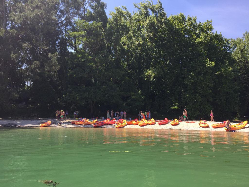 Ruta en kayak Cortegada llegada a la isla