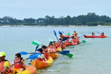 Bautismo en Kayak con interpretación de Conchas Marinas